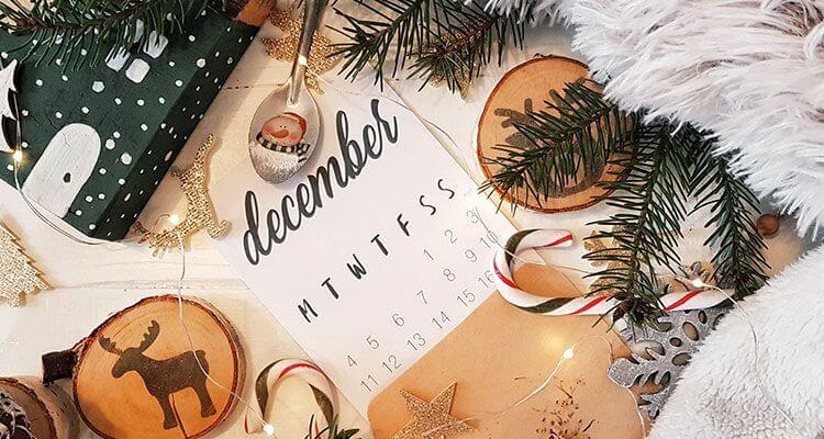 Organize your holiday calendar