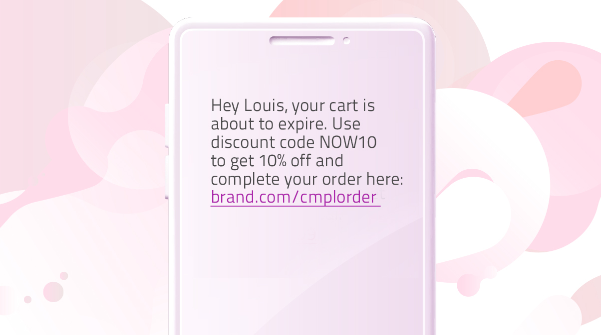 Abandoned cart automation - SMS template