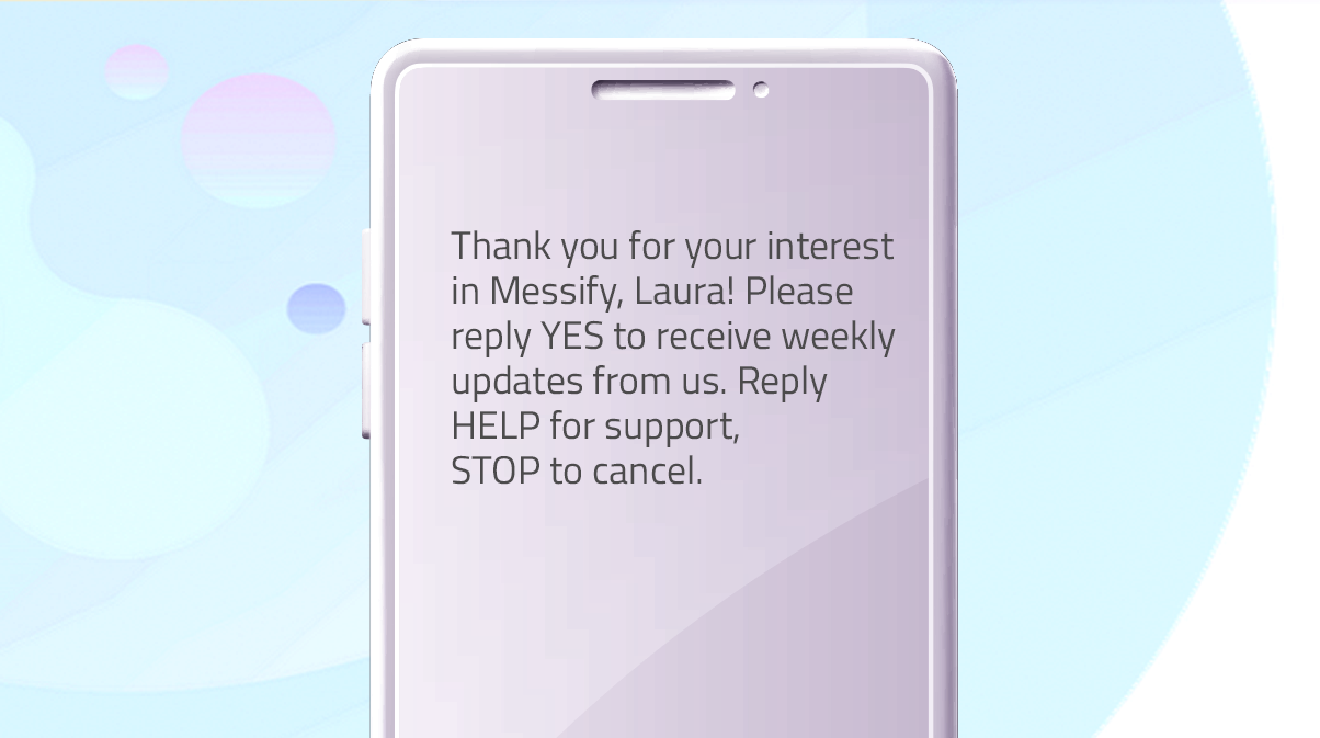 Promo messages template for onboarding