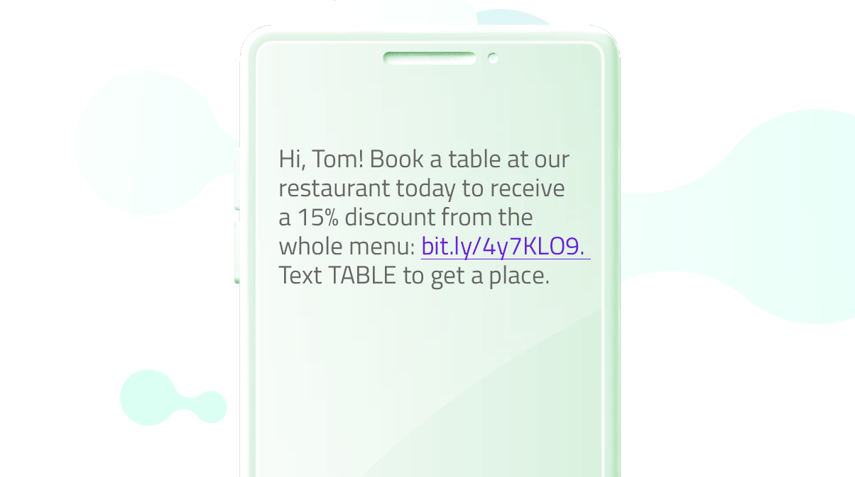Promo messages template for flash sale