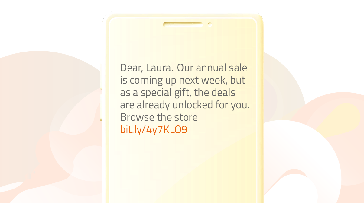 Promo messages template for loyal customers