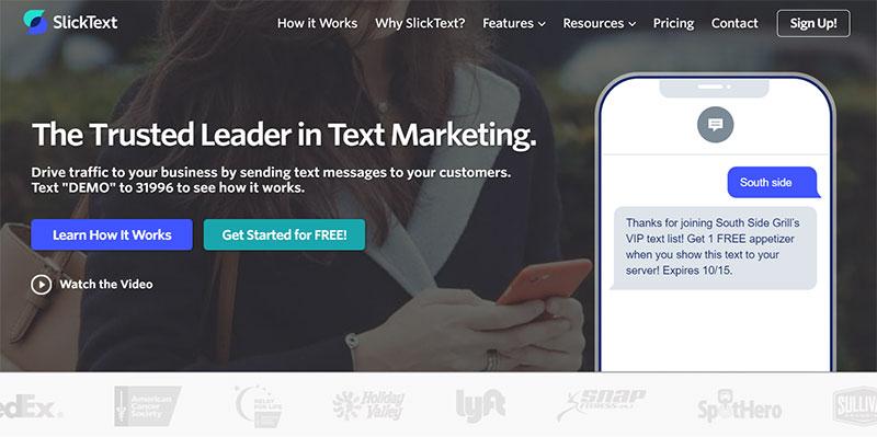 SMS service provider - SlickText