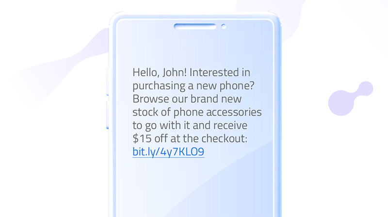 Promotional SMS message template (product bundle)
